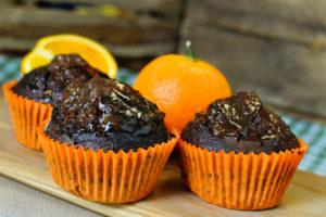 Jaffa cake muffins